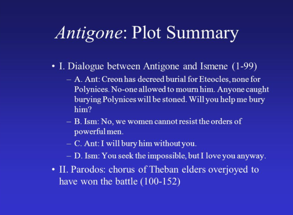 Antigone Summary