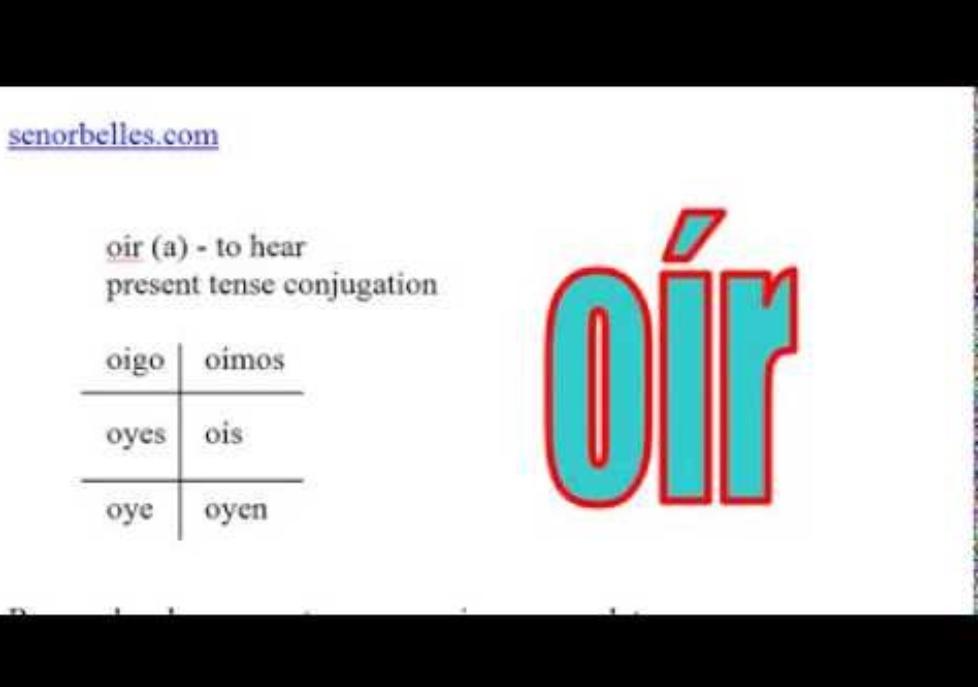 Oir Past Tense Conjugation