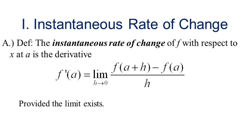 Average and Instantaneous Rate of Change