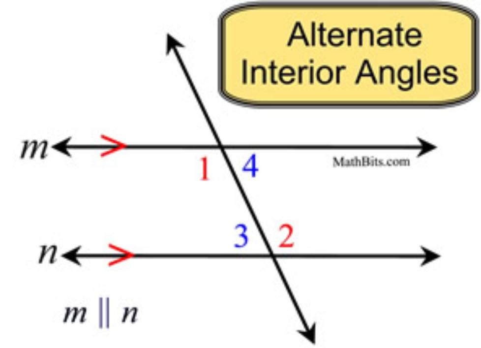 Alternate Interior Angles definition