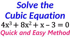 Solving Cubic Equations