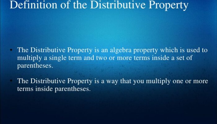 Distributive Property Definition